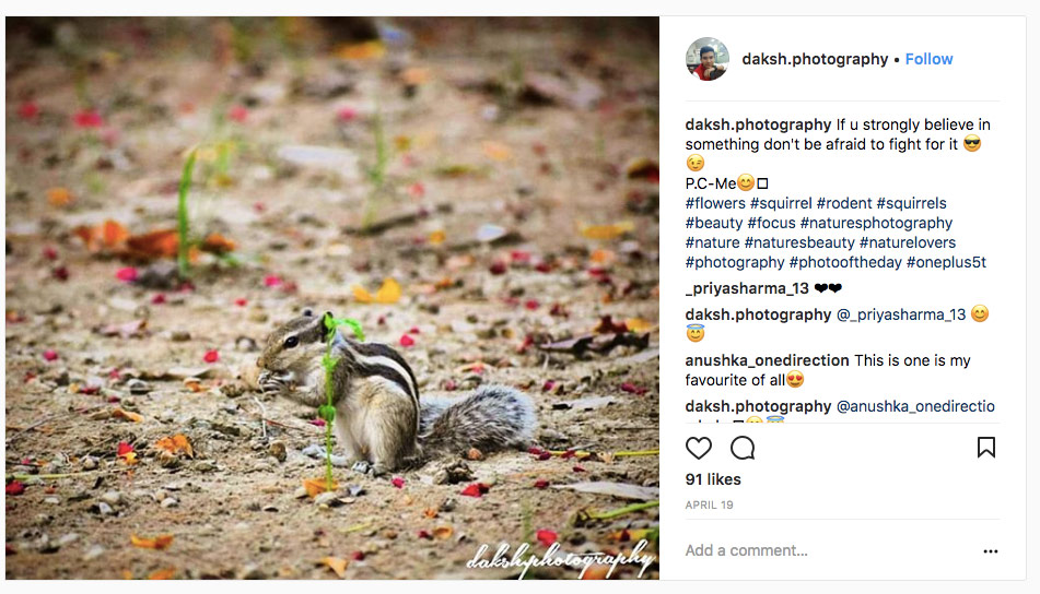 Instagram Post With Hashtags - Digital Ready